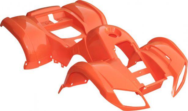 Plastic Set 50cc To 125cc Atv Orange Utility Style