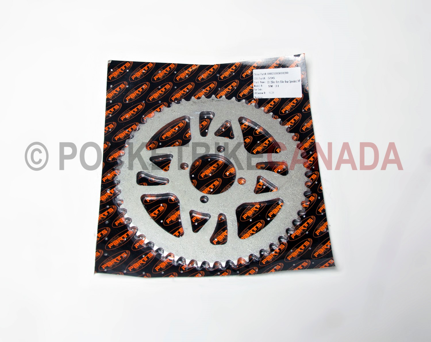 POCKET BIKE CANADA - BIKES & PARTS - Rear Sprocket 54 teeth
