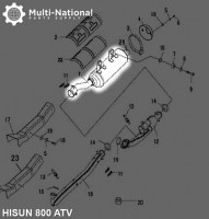 Exhaust_Tube_and_Muffler_ _Exhaust_Pipe_and_Muffler_Exhaust_Manifold_ATV_Hisun_800cc_1