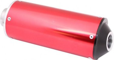 Muffler_ _50cc_to_250cc_Aluminum_Al_Red_1