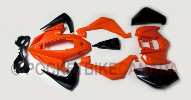 Orange Plastic Fender Body Kit for 110cc, T1 Rebel, ATV Quad 4 Stroke - G1020025